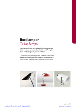Bordlampor Table lamps
