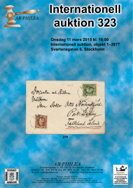 Stamp auction catalogue in PDF format