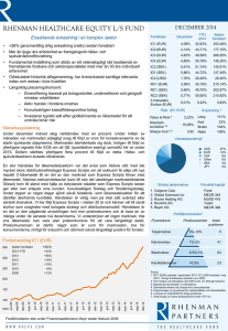 RHENMAN HEALTHCARE EQUITY L/S FUND
