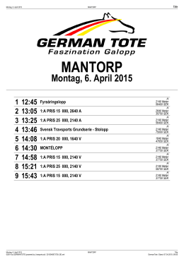 MANTORP - German Tote