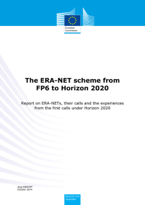 The ERA-NET scheme from FP6 to Horizon 2020
