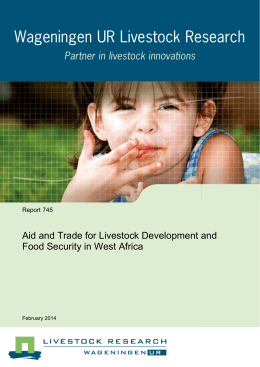 Aid and Trade for Livestock Development and