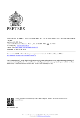 amsterdam notarial deeds pertaining to the portuguese jews in