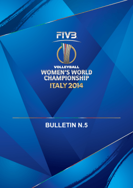 BULLETIN N.5 - Bari Volley 2014