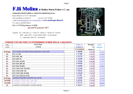 Download Listino completo in PDF