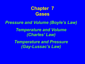 Chapter 7 Gases