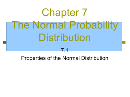 Chapter 7 The Normal Probability Distribution
