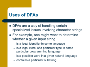 Uses of DFAs
