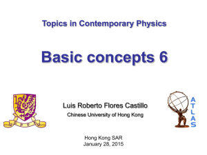 lecture 8 - Department of Physics, The Chinese University of Hong