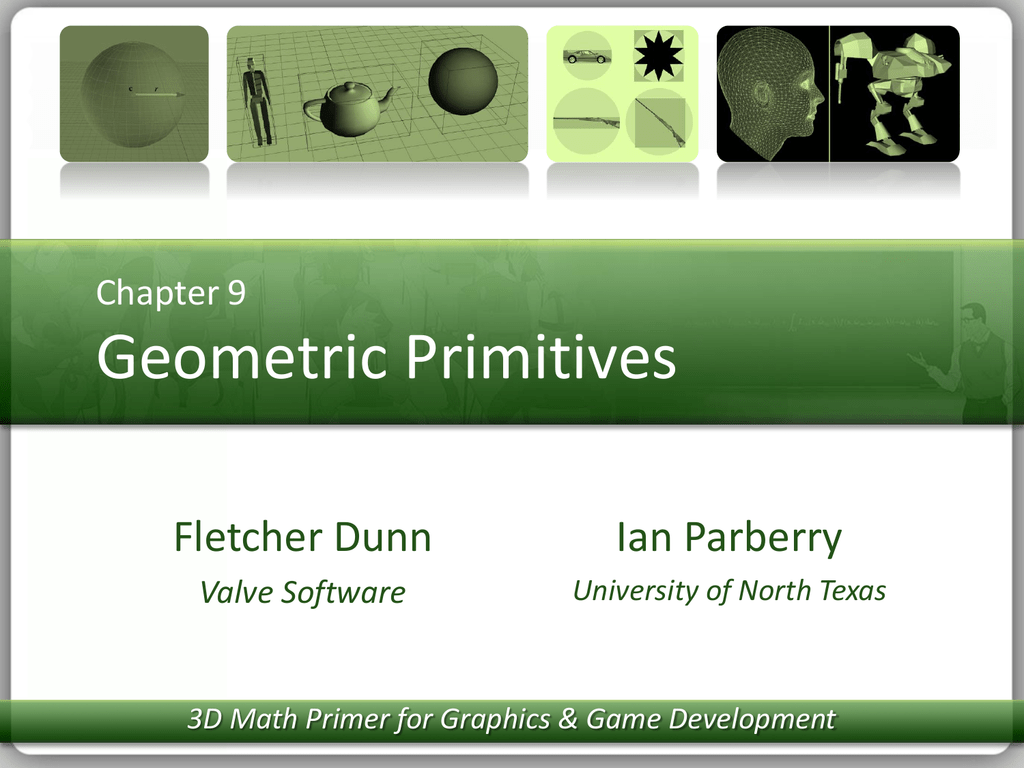 Lecture Notes for Chapter 9: Geometric Primitives