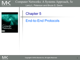 Chapter 5: End-to-End Protocols