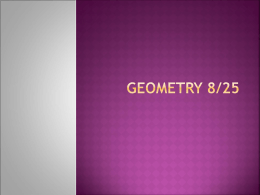 Geometry 8-25 - Vision Charter School