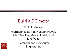 Build a DC Motor instructions - Electrical and Computer Engineering