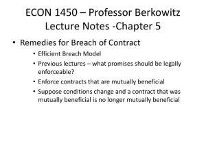 ECON 1450 * Professor Berkowitz Lectures on Chapter 1