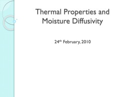 Thermal properties - Biosystems and Agricultural Engineering