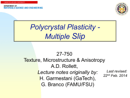 Anisotropy, part 3, Multi-slip Crystal Plasticity (Taylor model)