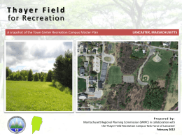 Thayer Field Recreation Task Force