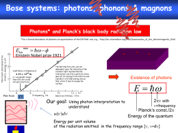 Photons and Planck`s black body radiation law