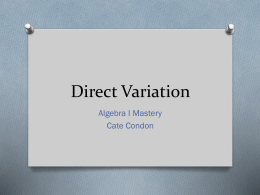 Direct Variation - Super Fun Website
