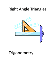 Right Angle Triangles