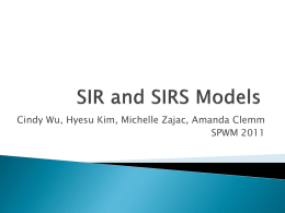 SIR and SIRS Models