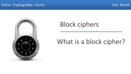 PPT for What are block ciphers?