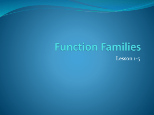 1-5 Function Families