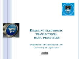 Enabling electronic transactions - e-transactions Law