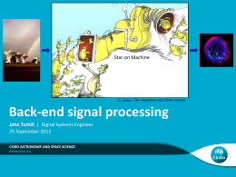 Back-end signal processing