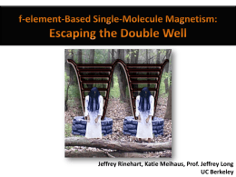 f-Element-based single molecule magnetism - Escaping the