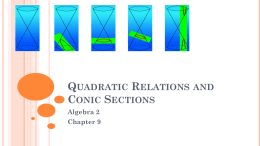 09 Quadratic Relations and Conic Sections