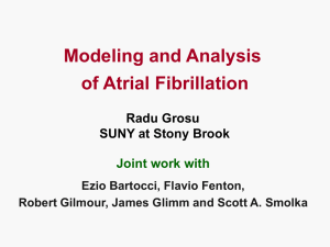 Modeling and Analysis of Atrial Fibrillation (ppt)