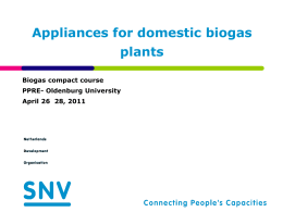 Biogas appliances []