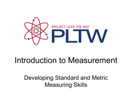Standard and Metric Measurement PowerPoint