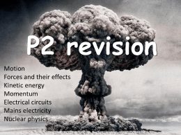 Physics Unit 2 Revision