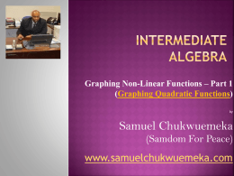 Graphing Quadratic Functions - Samuel Chukwuemeka Tutorials