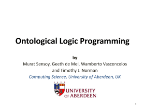 Ontological Logic Programming by
