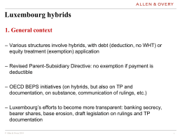Hybrids - Luxembourg