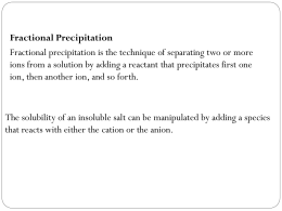 Fractional Precipitation
