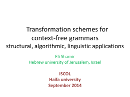 Transformation Schemes for Context