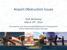 Airport Obstruction Issues - Georgia Airports Association