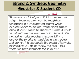 Using geostrips to aid understanding of geometry