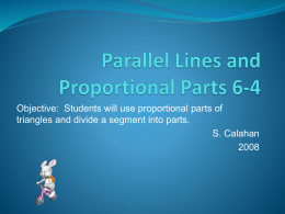 Parallel Lines and Proportional Parts 6-4