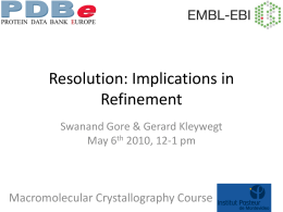 Resolution and Refinement