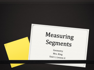 Lesson 4 Measuring Segments