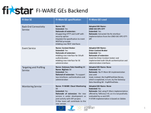 FI-STAR Technical Requirements Engineering