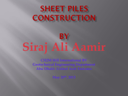 SHEET PILES CONSTRUCTION