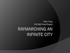 Ray marching Cities