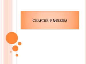 Chapter 6 Quizzes