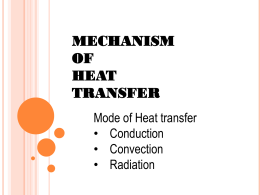 MECHANISM OF HEAT TRANSFER